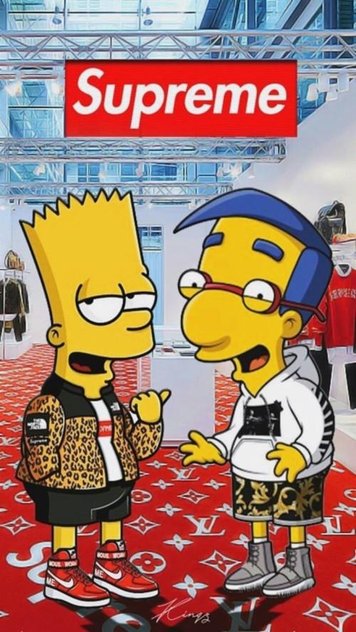Simpson Supreme Wallpaper Bart Simpson Supreme 1158202 Hd