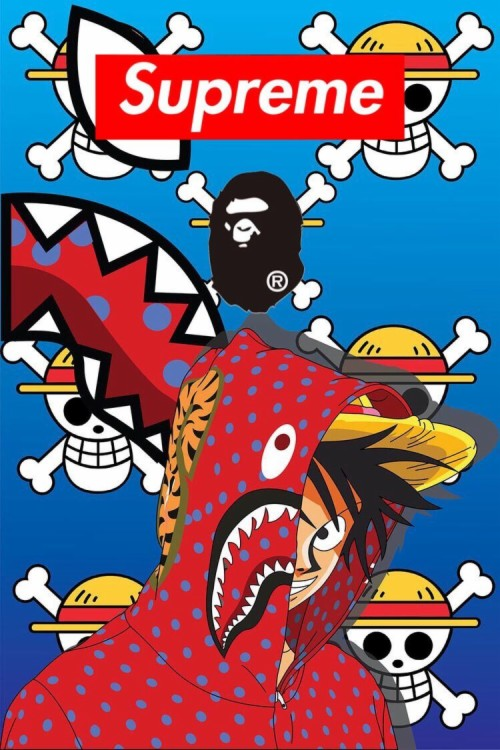 Supreme Ape One Piece Naruto Wallpaper Iphone Wallpaper One Piece Luffy Bape 1010780 Hd Wallpaper Backgrounds Download