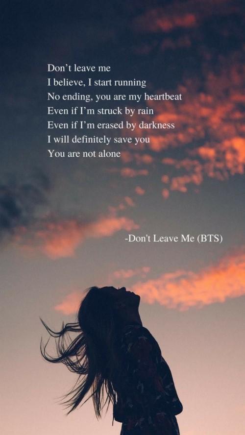 Don T Leave Me Lyrics Wallpaper Bts Don T Leave Me Lyrics 1051344 Hd Wallpaper Backgrounds Download