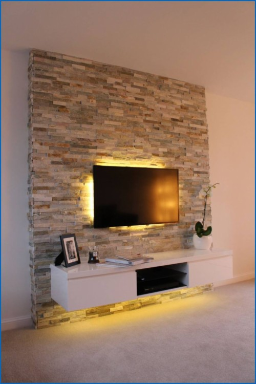 Nordic Tv Background Wall Paper Simple Modern Living