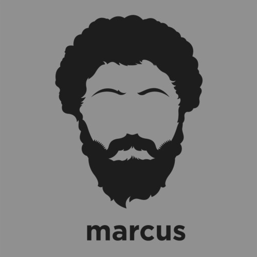 A T Shirt With A Minimalist Hair Based Illustration Marcus