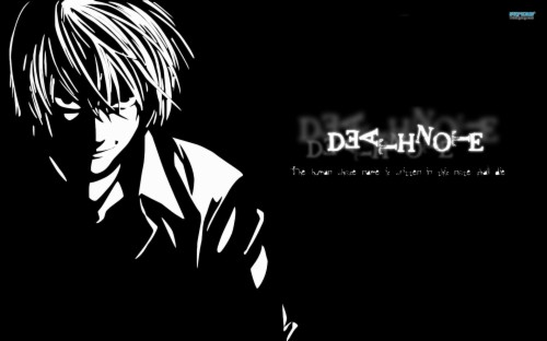 Death Note Light Wallpaper Death Note Black Light 124778