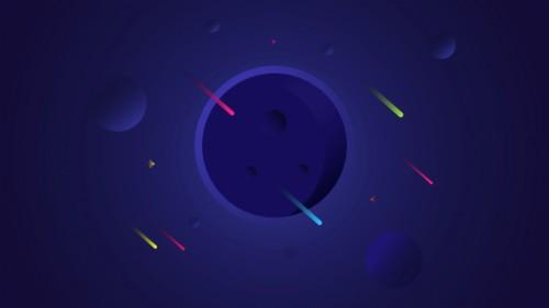 123 1231865 planets blue falling stars minimal 4k space minimalist
