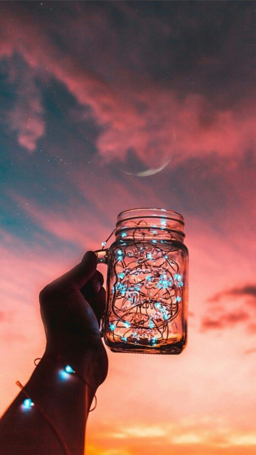 Light Aesthetic Fairy Light Aesthetic Light Blue Aesthetic Lights In A Jar On A Beach 398725 Hd Wallpaper Backgrounds Download