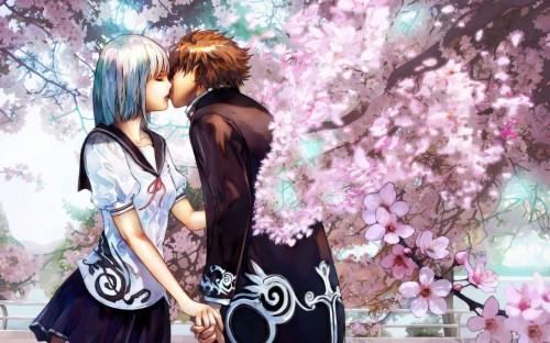 Anime Kiss Wallpaper Love Anime Cute Couple 130416 Hd