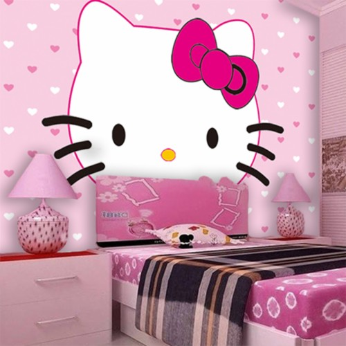 2015 New Childrens Bedroom Hello Kitty Fashion Wallpaper