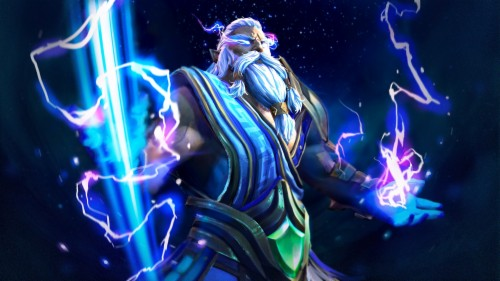 Photo Wallpaper Zipper Armor Lightning Art Dota Zeus