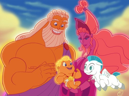 Hercules Zeus Hera Pegasus Widescreen Background For