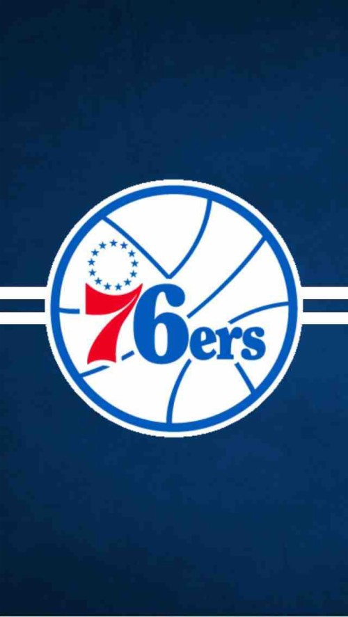 I Created This Iphone 5 Wallpaper For The Sixers Philadelphia 76ers Logo Png 1328127 Hd Wallpaper Backgrounds Download