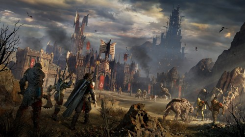 Talion Gorgoroth Orc Fortress Middle Earth Middle Earth Shadow Of War 1369629 Hd Wallpaper Backgrounds Download