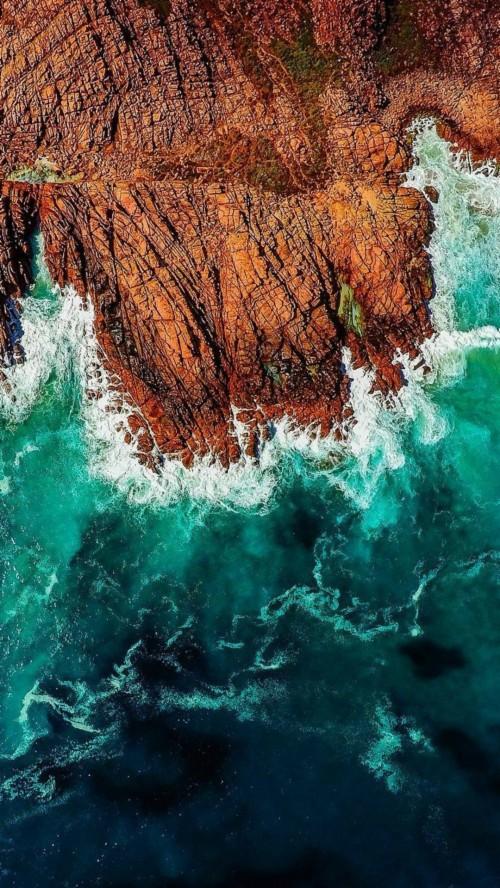 Ocean Waves Iphone Wallpaper Ocean Waves 1385562 Hd