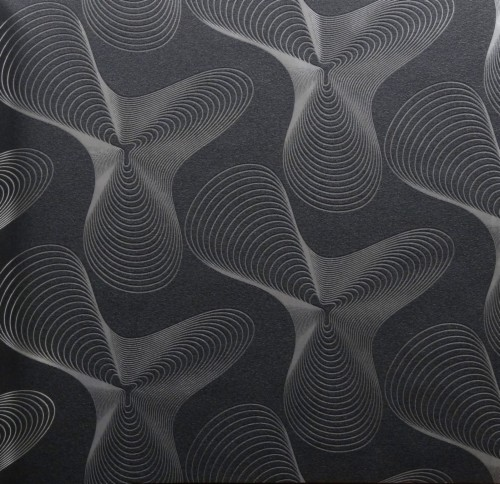 Karim Rashid Designer Wallpaper Retro 52017 Silver Black And