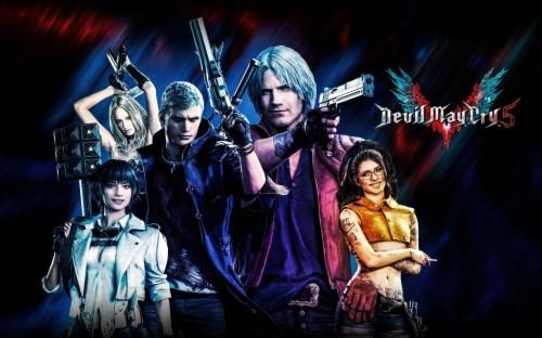 Wallpaper Of Devil May Cry 5 Dante Lady Nero Nico