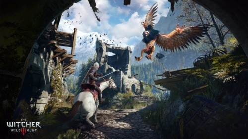 Full Hd Wallpaper The Witcher 3 Ruin Griffin Battle Steam