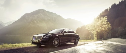 The Mercedes Benz S 350 D 4matic In Black At The Mercedes