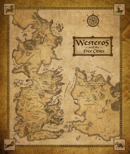 Westeros Map Wallpaper Hd 27134 Hd Wallpaper