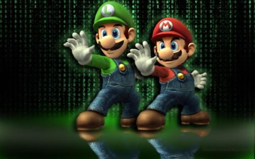 Mario And Luigi Matrix Luigi Mario Snes Hd Wallpaper Mario