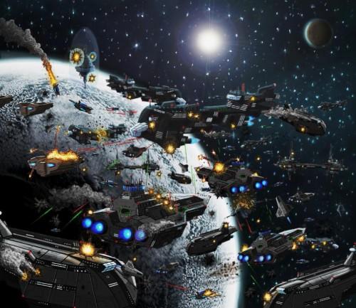 Star Wars Planet Moon Battle Space Art Wallpapers Star Wars Space War 1878401 Hd Wallpaper Backgrounds Download