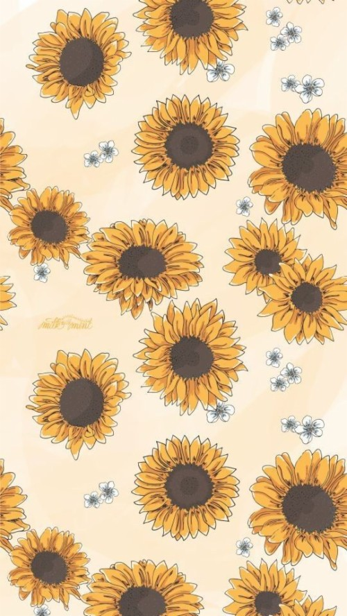 Sunflowers Background Phone Backgrounds Wallpaper Aesthetic