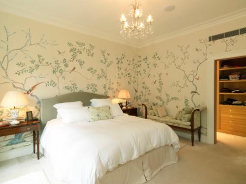 Wallpaper Bedroom Ideas With Nailhead Trim Bedroom - Master ...