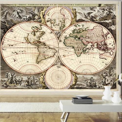 3d Photo Wallpaper Retro Pirate Treasure Map Large Map Of