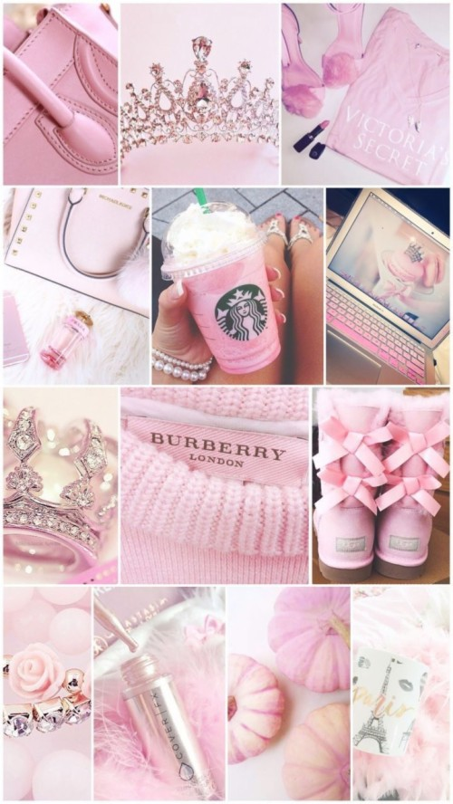 Modern Pink Princess Aesthetic Cute Girly Collages 1919589