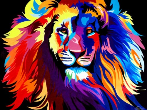 Rainbow Lion Wallpaper Fond D écran Art Hd 1925515 Hd