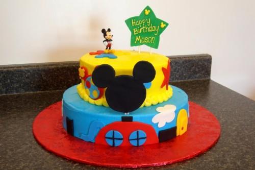Terrific Mickey Mouse Birthday Cake Cake Decorating Mickey Mouse Personalised Birthday Cards Xaembasilily Jamesorg