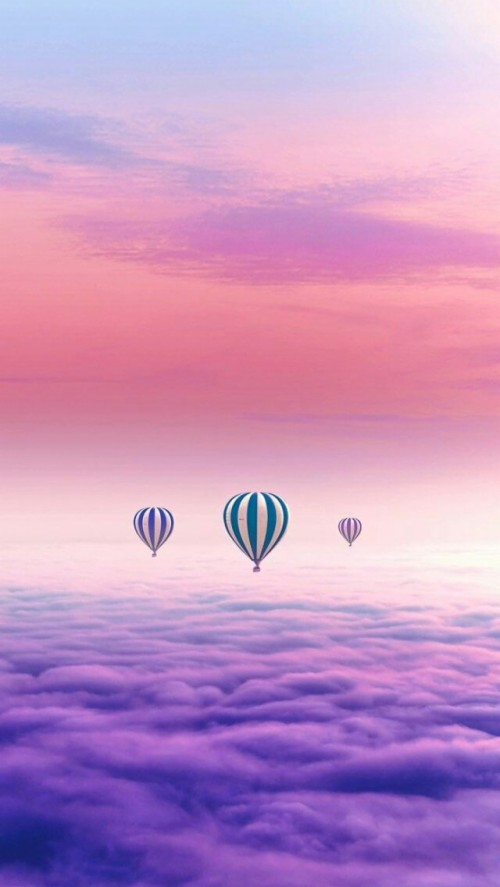 Pink Color Colorful Pastel Aesthetic Wallpaper Hot Air Balloon 1961660 Hd Wallpaper Backgrounds Download
