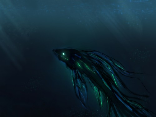 Ocean Sea Monster Deep Sea Water Darkness Wallpaper