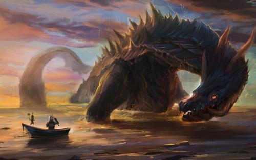 Giant Monster Wallpaper Part Dragon War 926024 Hd
