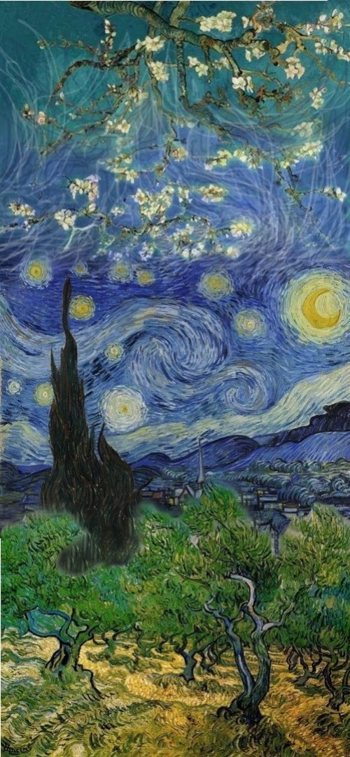 Van Gogh Mashup Vincent Van Gogh Wallpaper Iphone
