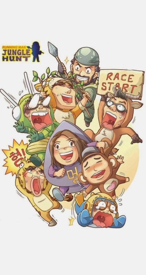 Running Man Hd Wallpapers Running Man Cartoon Korean