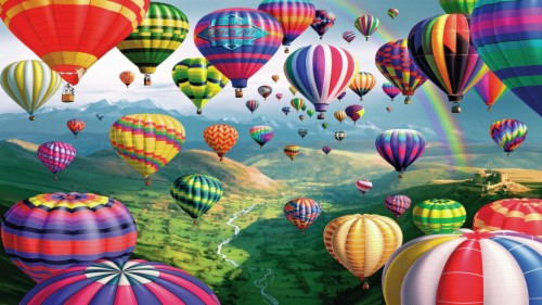 Live Wallpaper Hd Free Download Colorful Hot Air Ballon