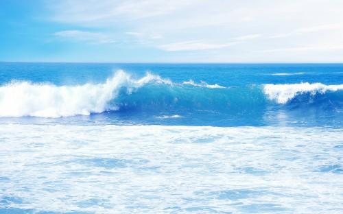 Sea Waves Light Blue Ocean Waves 2207476 Hd Wallpaper
