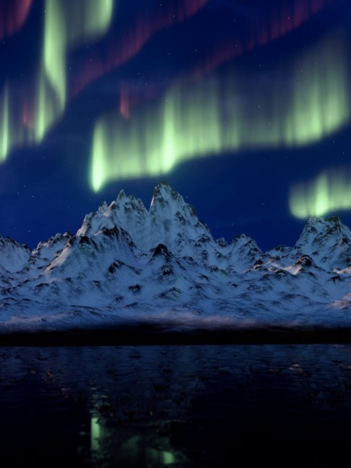 Iphone Xs Northern Lights 2226293 Hd Wallpaper
