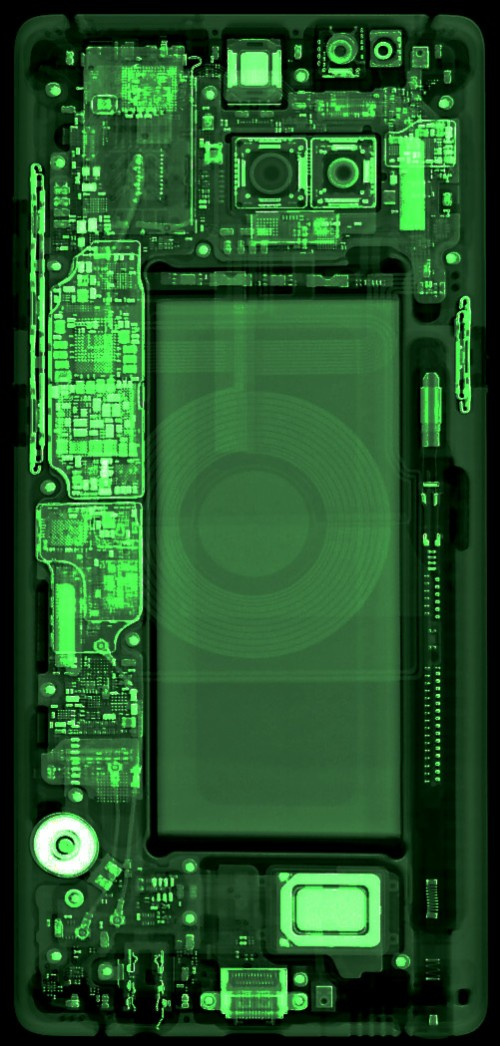 Note 8 X Ray Wallpaper Sharpened Edited From Ifixit Note 8 Teardown 235998 Hd Wallpaper Backgrounds Download