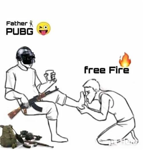 Pubg And Free Fire Funny Meme Free Fire Vs Pubg 2533326 Hd