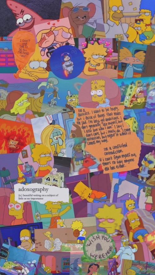 Sad Aesthetic Wallpaper Simpsons 2540406 Hd Wallpaper