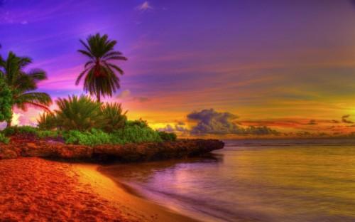 Afterglow Beach Shore Sunrise Sunset Wallpaper Iphone