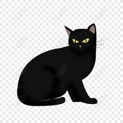 292 2926784 halloween hand drawn black cat cartoon cute horror