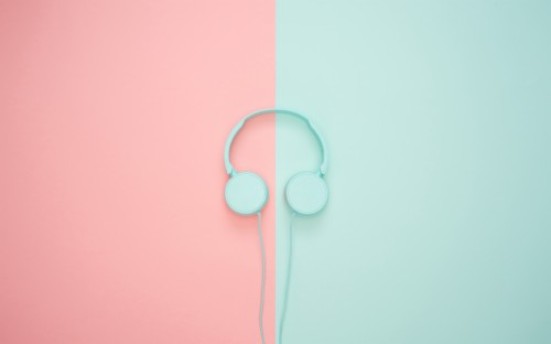 3 37245 wallpaper headphones minimalism pastel pink pastel desktop