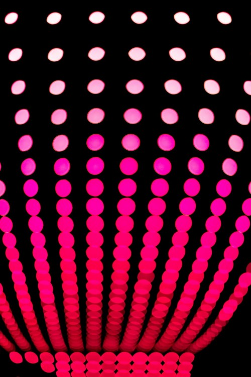 304 3043125 black and pink wallpaper light dots circle round