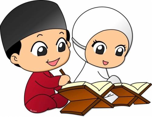 Kartun Wanita Muslimah Hitam Putih - 444X444 - Download Hd ...