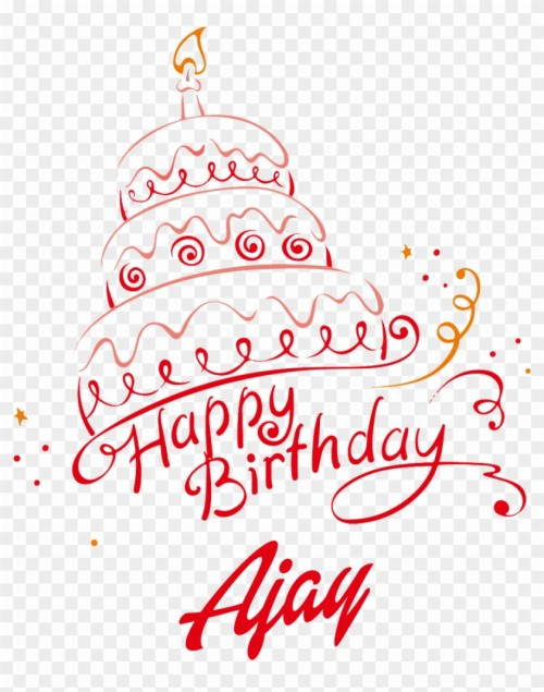 305 3053238 ajay happy birthday vector cake name png holy