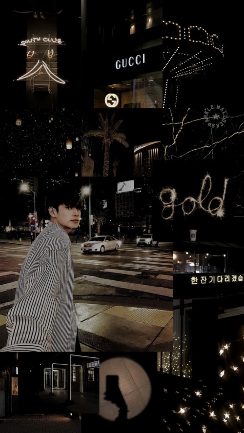 327 3270600 dark gold and night image aesthetic ong seongwoo