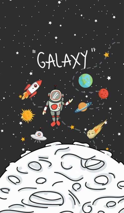 Space Galaxy Wallpaper Cartoon 3289725 Hd Wallpaper Backgrounds Download