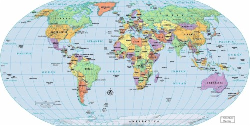 World Map Political Country And Capitals Free Download ...