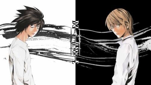 Death Note Light Yagami L Wallpaper Death Note Wallpaper L