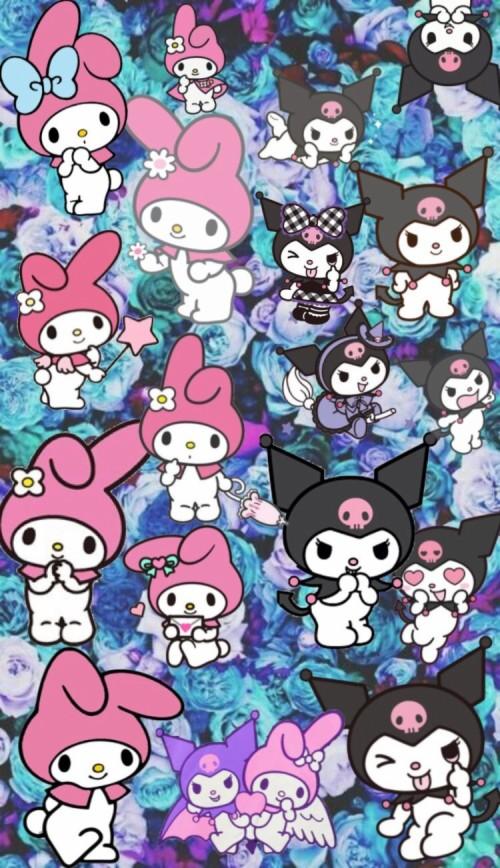 Wallpaper Wallpaperkawaii Mymelody Kuromi Kawaii Cartoon 367907 Hd Wallpaper Backgrounds Download